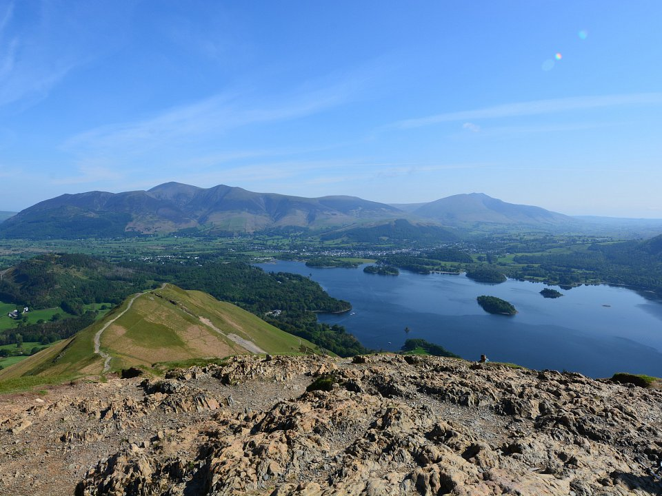 Looking over Keswick from Catbells (7 miles)